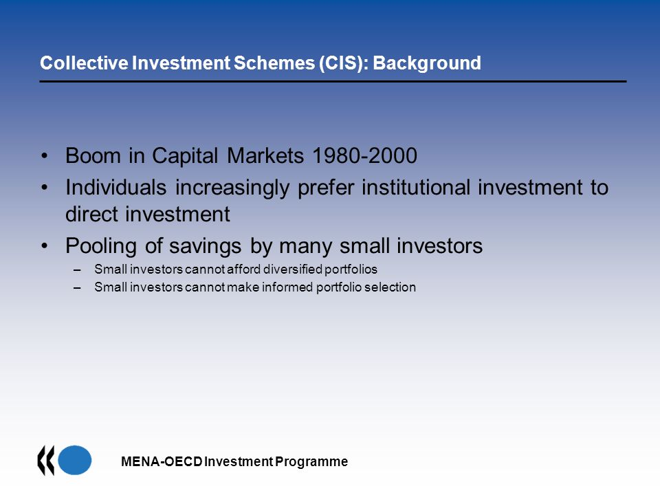 Collective Investment Schemes (CIS): Background