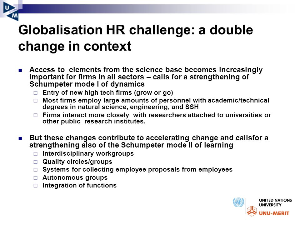 Globalisation HR challenge: a double change in context