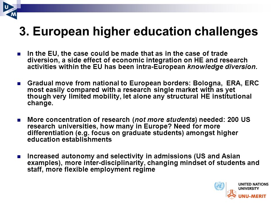 3. European higher education challenges