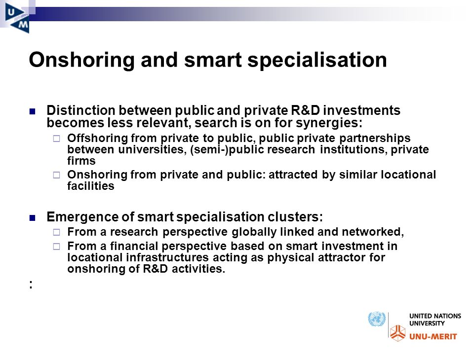 Onshoring and smart specialisation