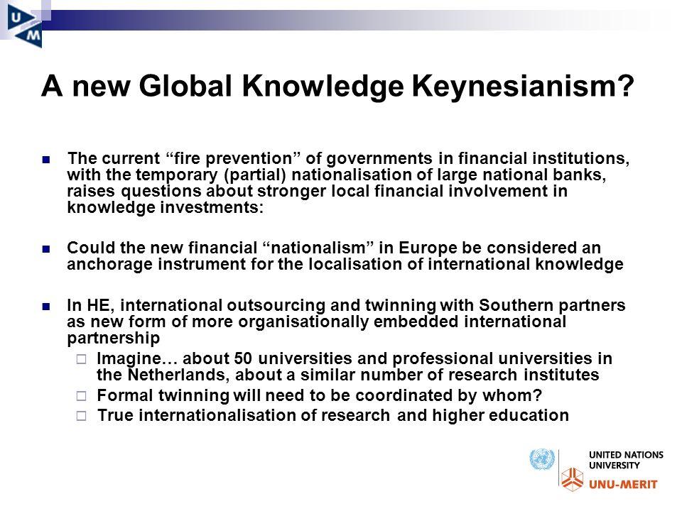 A new Global Knowledge Keynesianism