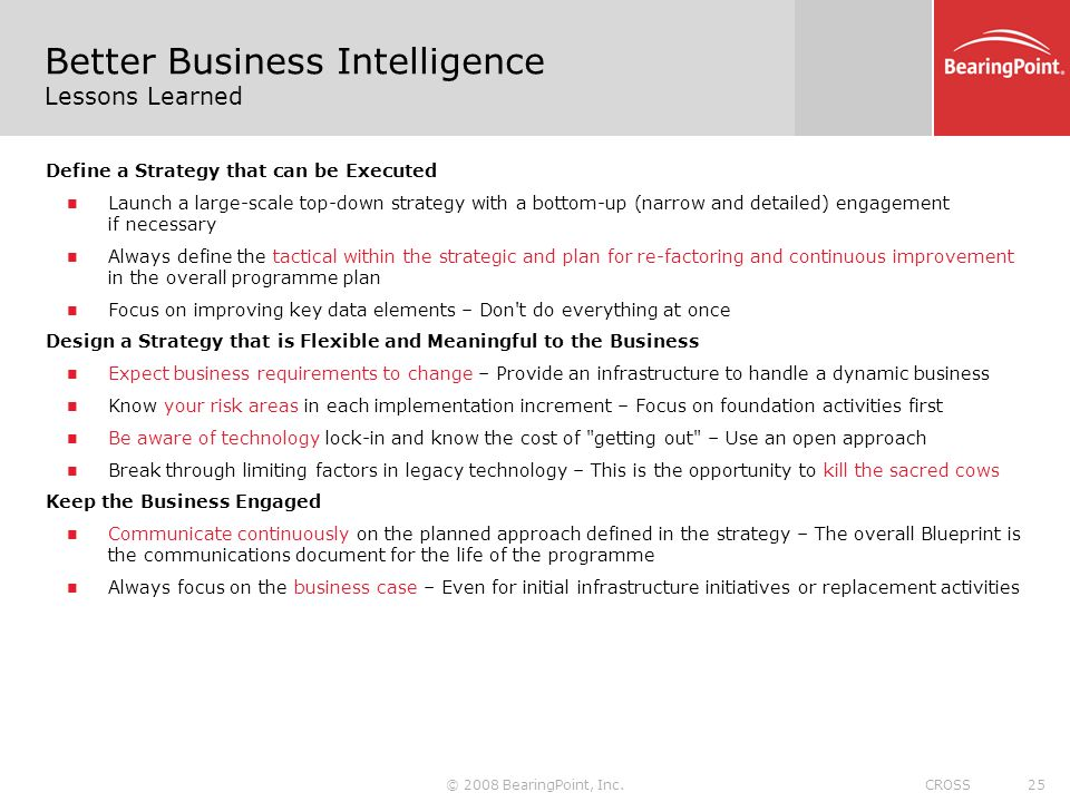 Data modelling techniques for better business intelligence a focus better business intelligence lessons learned malvernweather Images