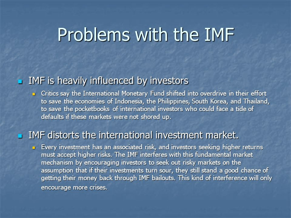 International Monetary Fund (IMF) lending: The analytical issues