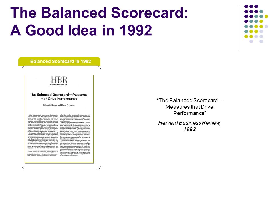 balanced score card essay Balanced score card essay sample a performance measurement system is a process developed to implement an organizations strategy effectively this involves identification of the critical factors that impact overall success.