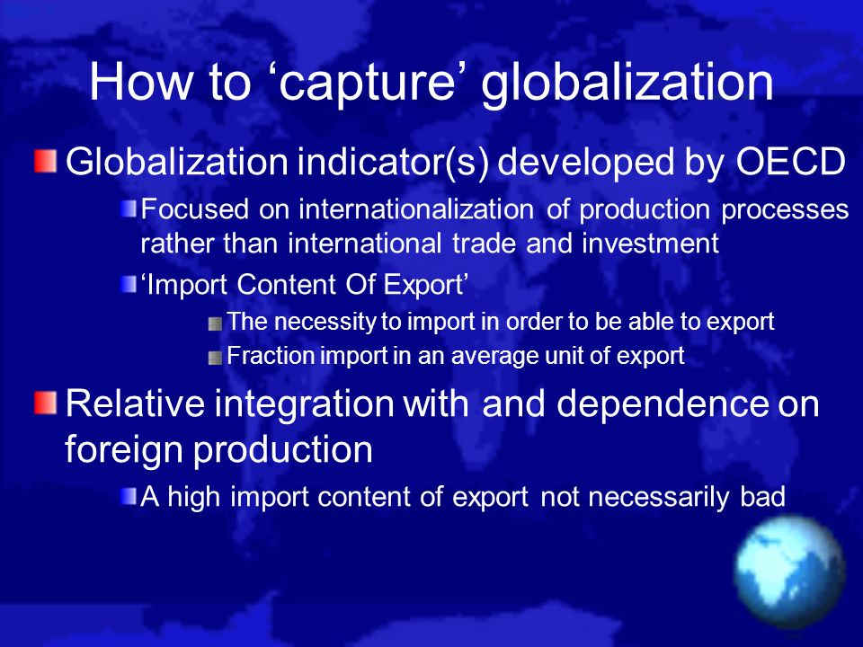 How to 'capture' globalization