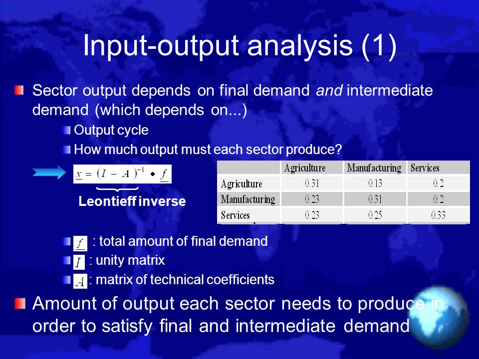 Input-output analysis (1)