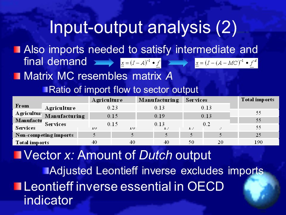 Input-output analysis (2)