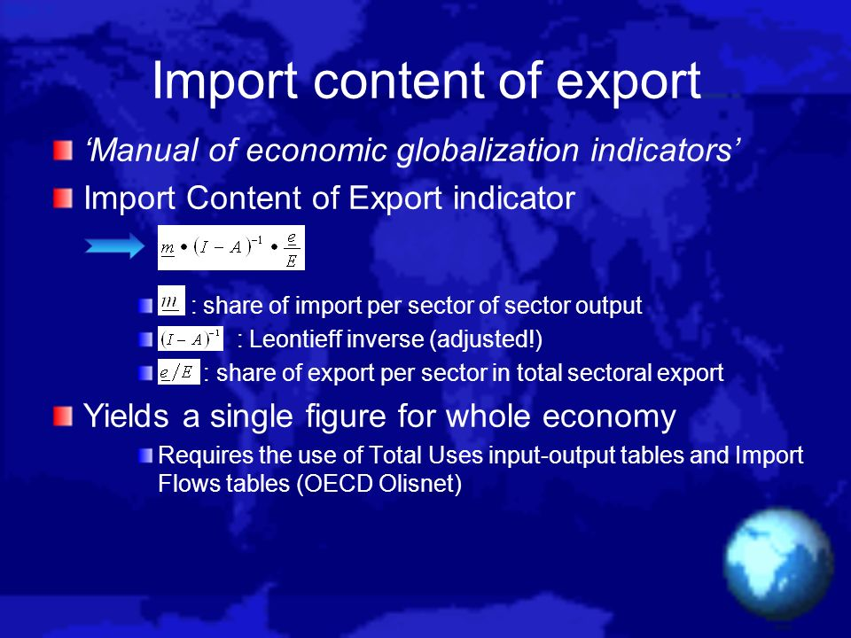 Import content of export