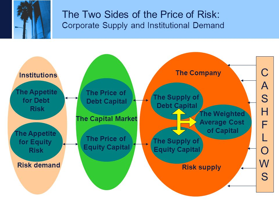 The Two Sides of the Price of Risk: Corporate Supply and Institutional Demand
