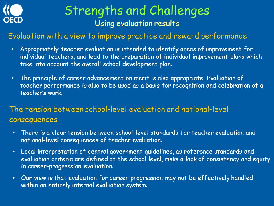 Strengths and Challenges
