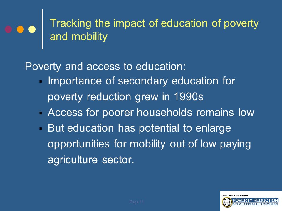 Tracking the impact of education of poverty and mobility