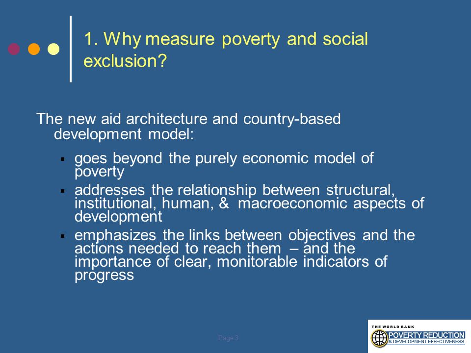 1. Why measure poverty and social exclusion