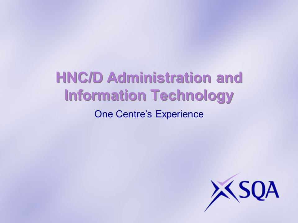 HNC/D Administration and Information Technology