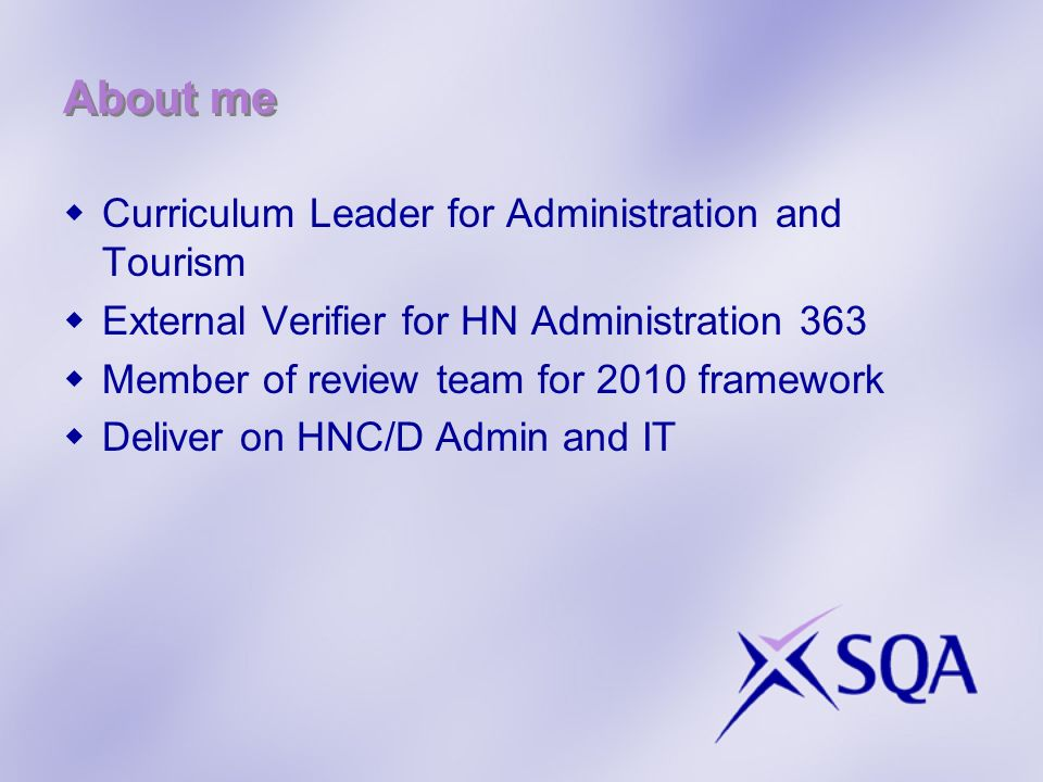 About me Curriculum Leader for Administration and Tourism