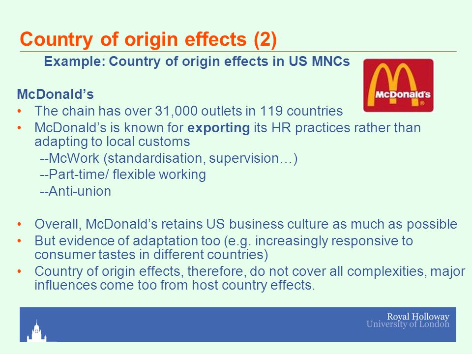 country of origin effects on subsidiaries Japanese subsidiaries in germany german subsidiaries in the usa 487 --- 1174 222 host country mean 409 225 --- 8 dominance and localization effects subsidiary location home country mean 287 subsidiary mean 3381 no yes no 36 09 us mean --f-value significant differences at p  0table 2: country-of-origin89 3211 no no yes.