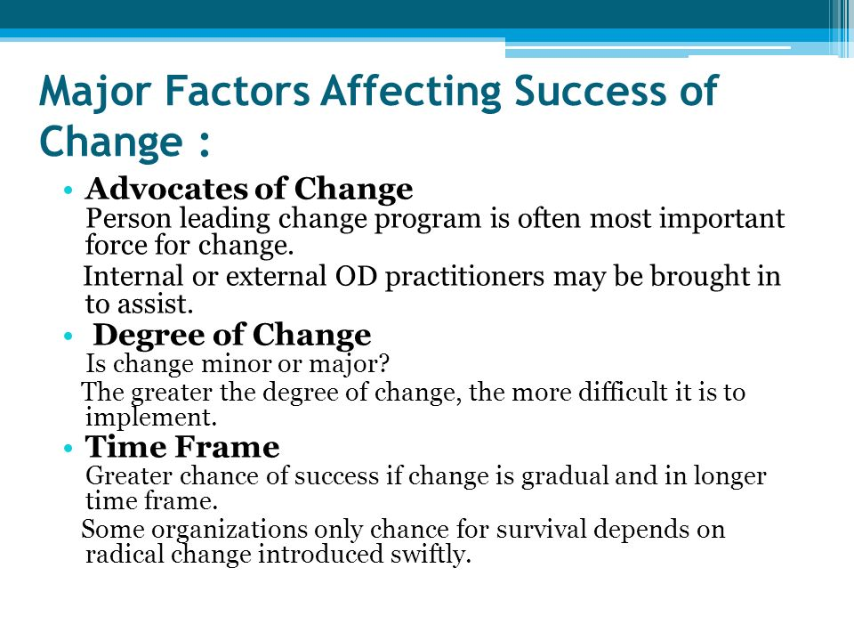 External Forces That Influence Organizational Change