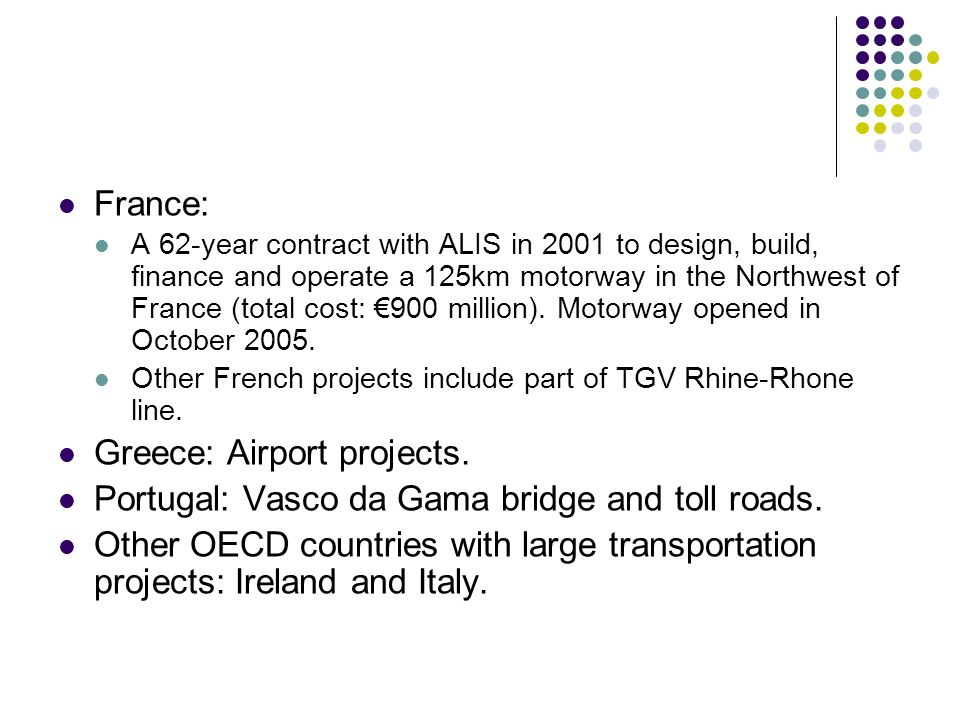 Greece: Airport projects.