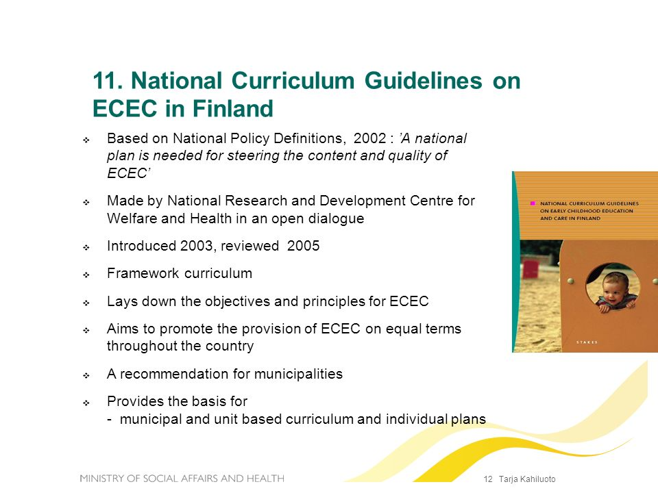 11. National Curriculum Guidelines on ECEC in Finland