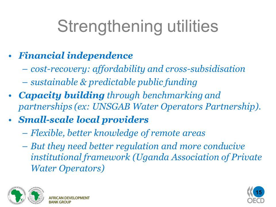 Strengthening utilities