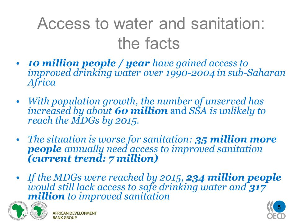 Access to water and sanitation: the facts