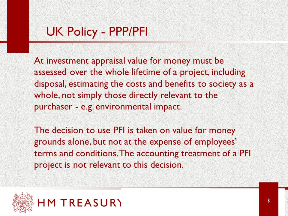 UK Policy - PPP/PFI