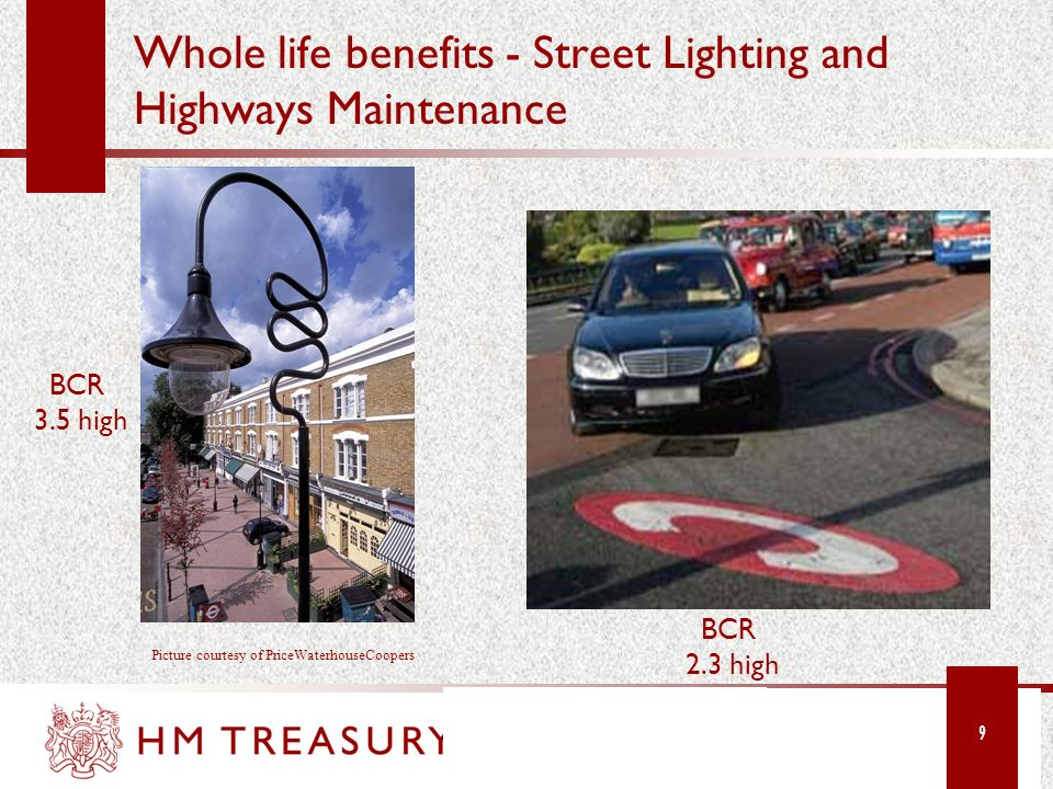 Whole life benefits - Street Lighting and Highways Maintenance