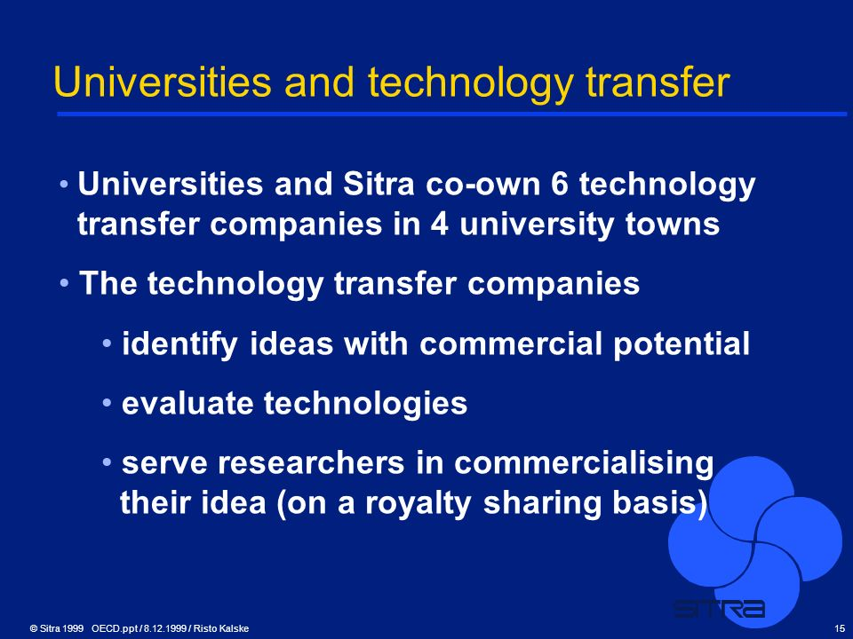 Universities and technology transfer