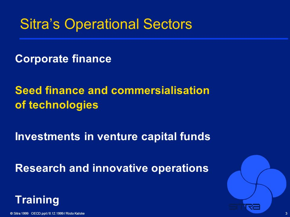Sitra's Operational Sectors