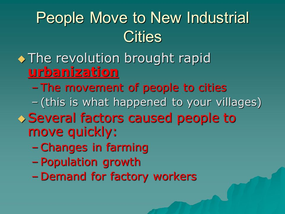 an analysis of the changes occurred in the industrial revolution Pre-industrial society the industrial revolution  the industrial process occurred gradually, but the social and economic changes were so far reaching over.