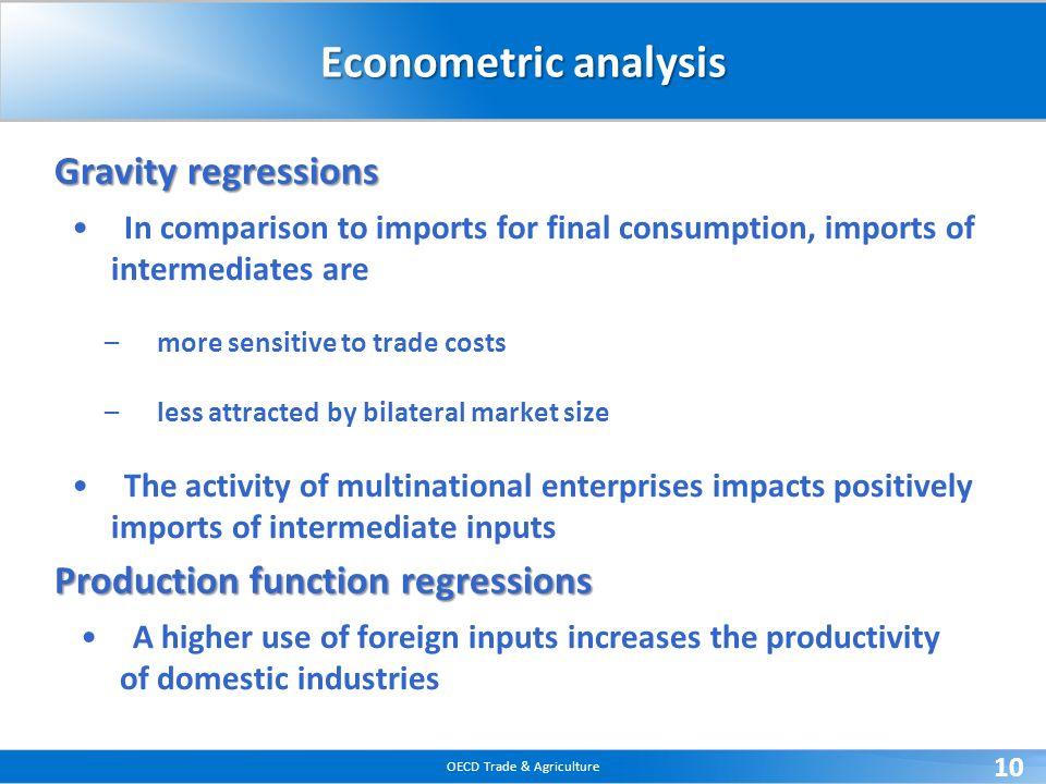 Econometric analysis Gravity regressions