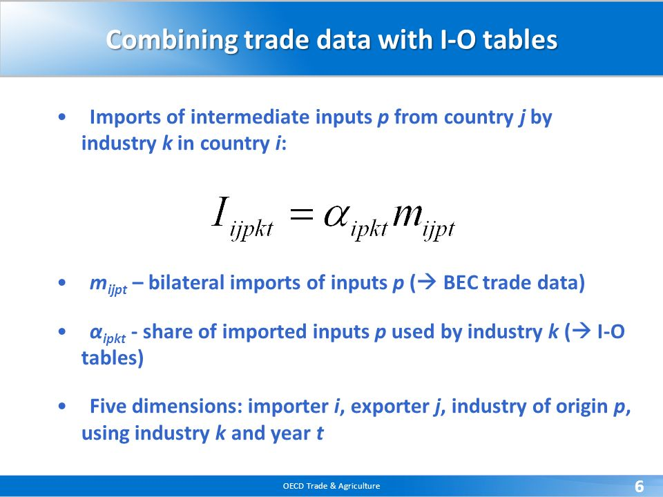 Combining trade data with I-O tables