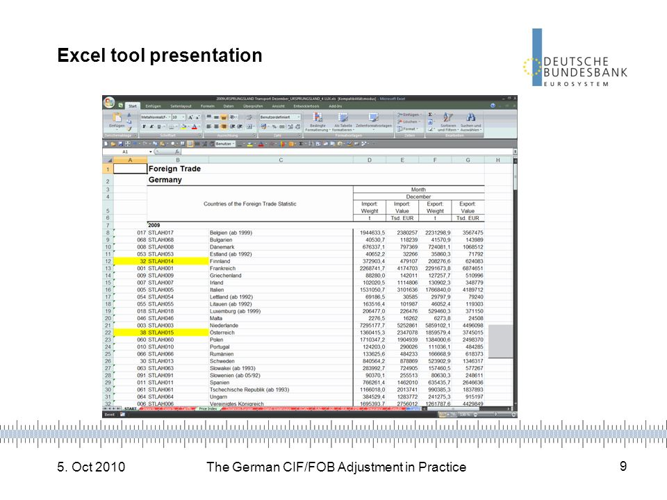 Excel tool presentation