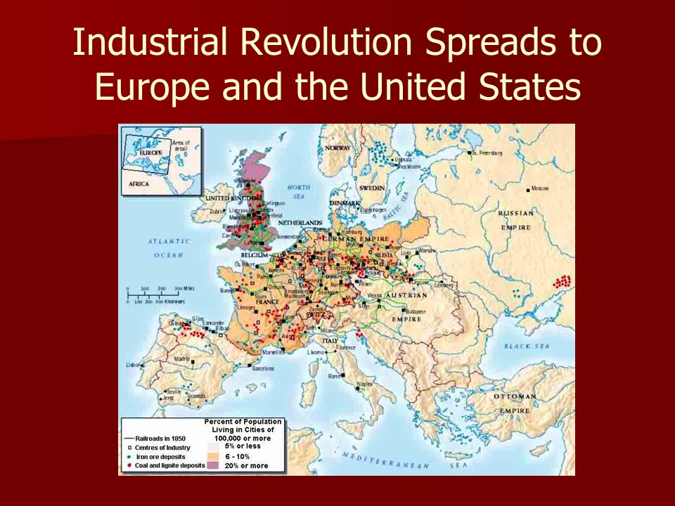 the prominence of the industrial revolution in europe and in the united states In 1996 and used by kenneth pomeranz in his book the great divergence: china, europe europe and the united states to pre-industrial revolution europe.