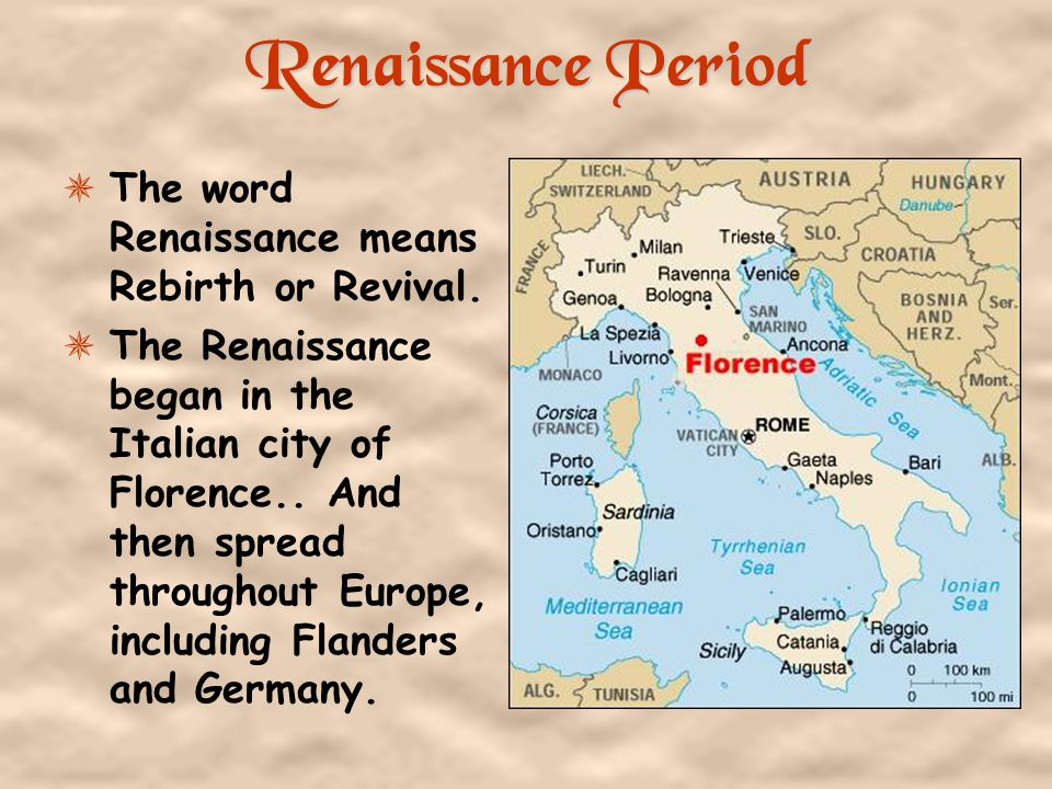 significant movements during the renaissance period The renaissance was a period of rebirth and transition in europe it began in italy around the thirteenth century and spread gradually to the north and west across europe for the next two centuries it was a time of vast growth in learning and culture.