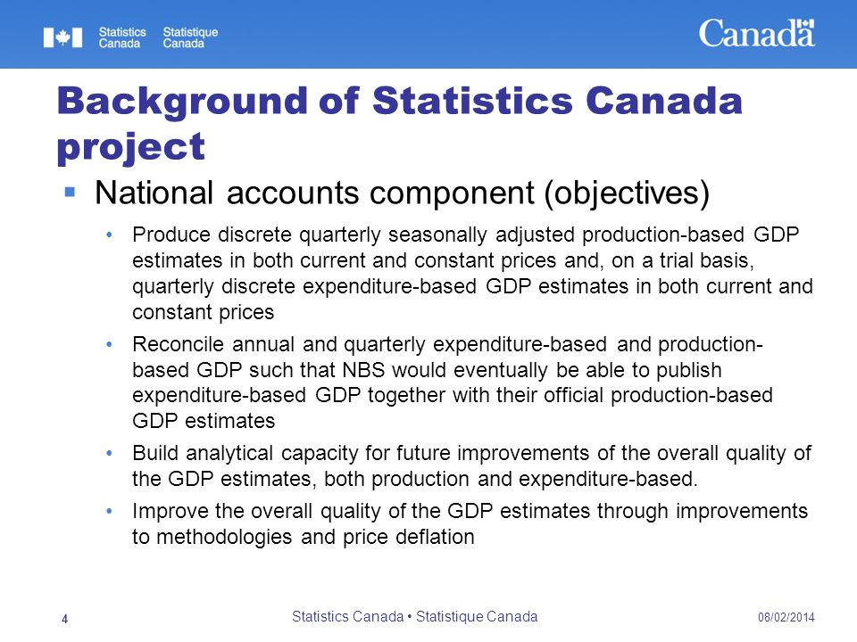 Background of Statistics Canada project