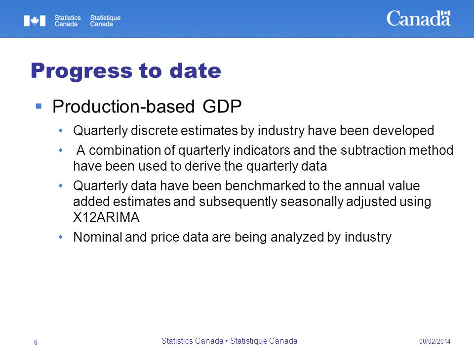 Statistics Canada • Statistique Canada