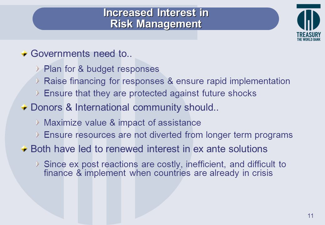 Increased Interest in Risk Management