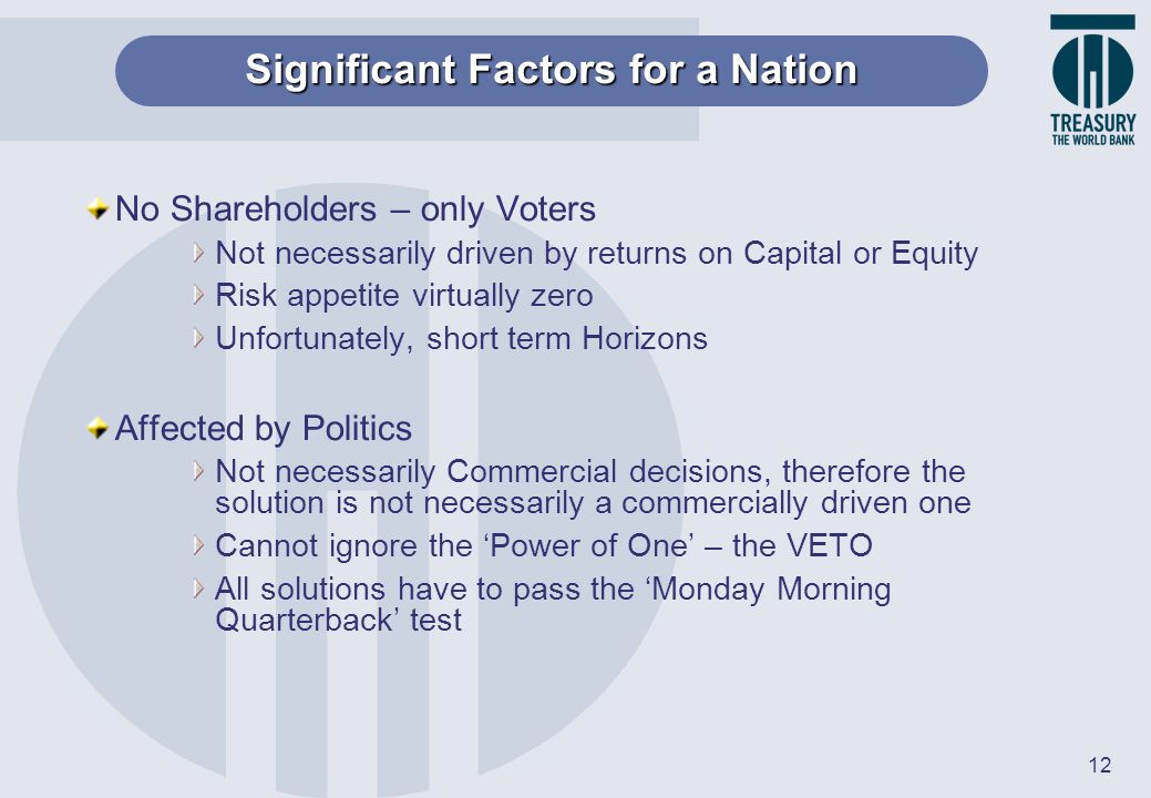 Significant Factors for a Nation