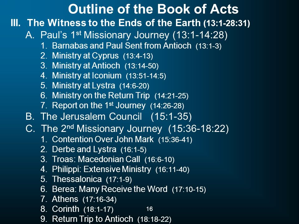book of acts outline pdf