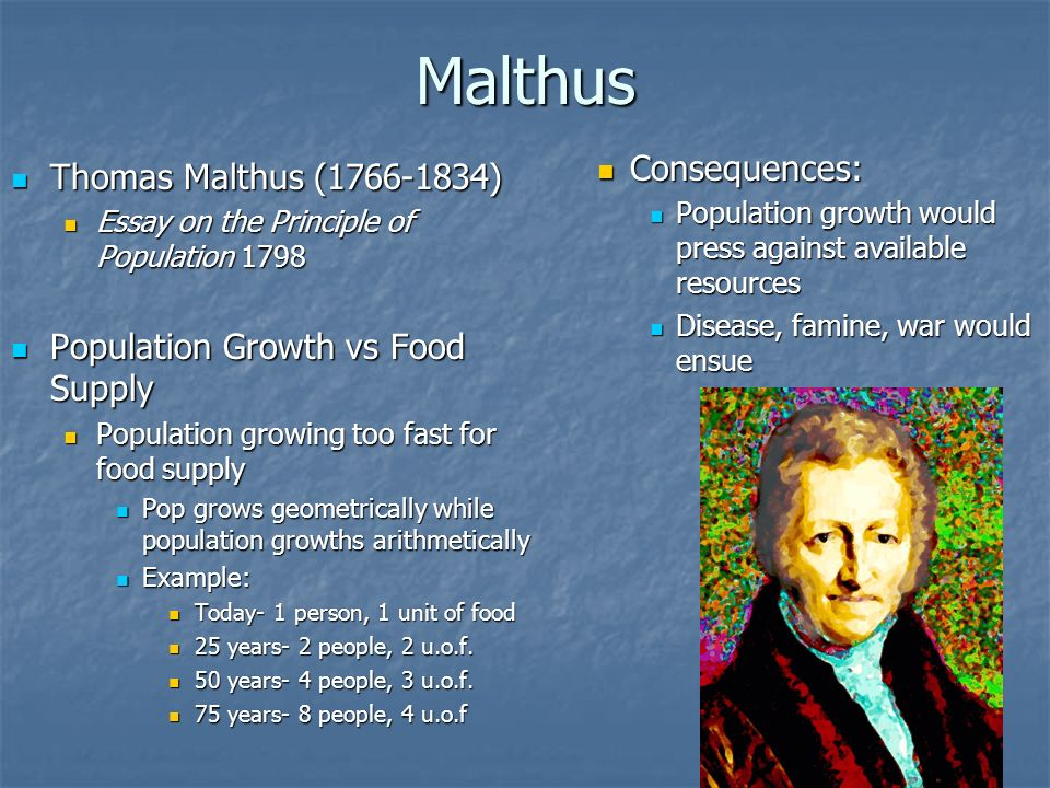 malthus essay on the principle of population 1798