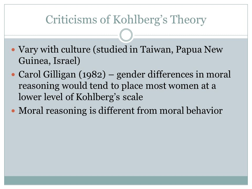 Sex differences in moral reasoning