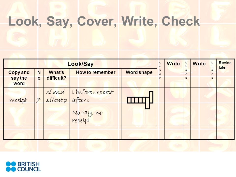 look write and say program