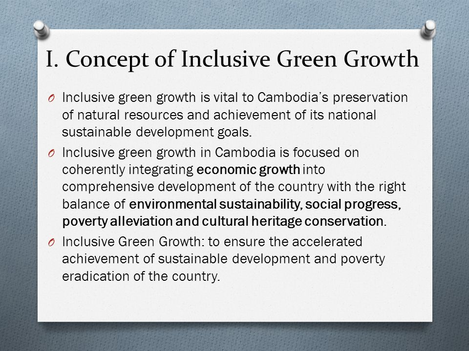 I. Concept of Inclusive Green Growth
