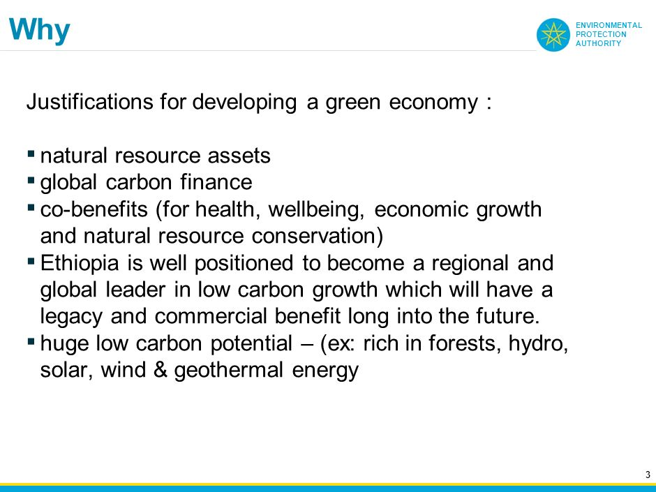 Why Justifications for developing a green economy :