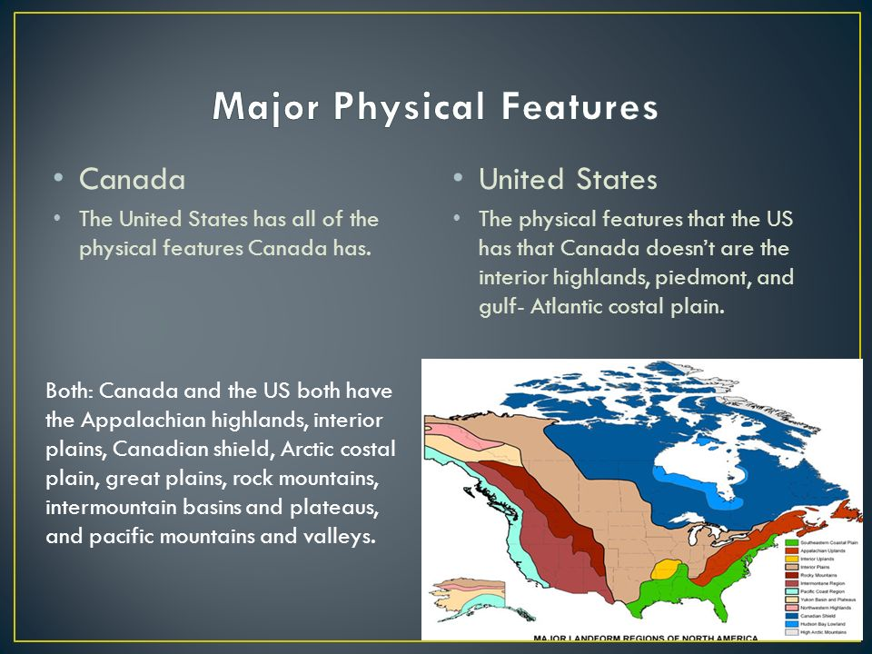 Canada And The United States Ppt Video Online Download - Major physical features of united states
