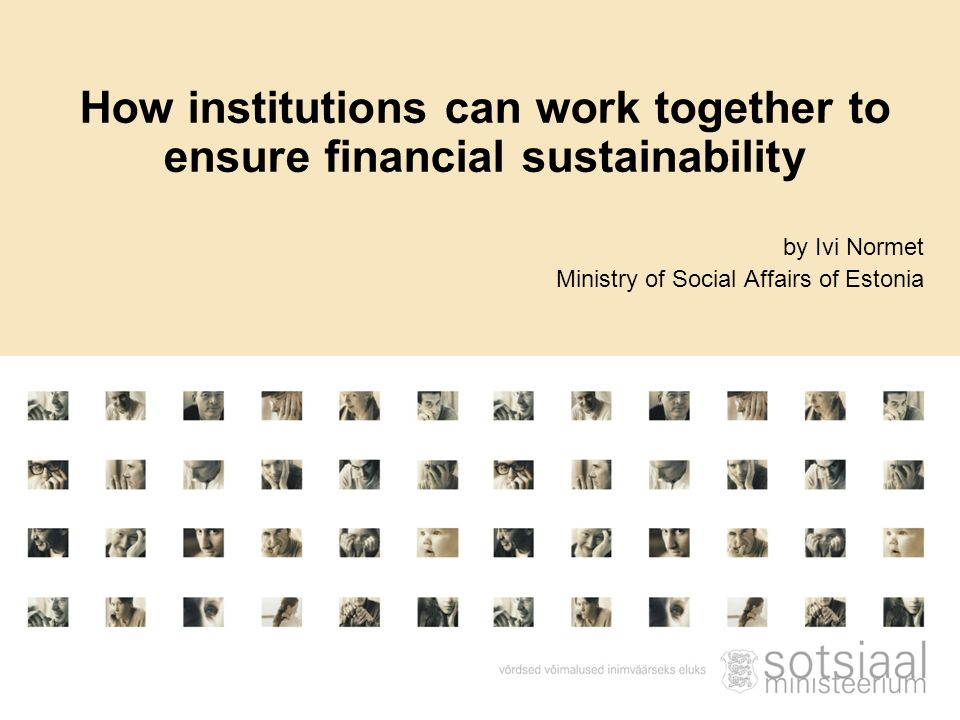 How institutions can work together to ensure financial sustainability
