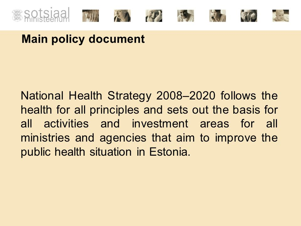 Main policy document