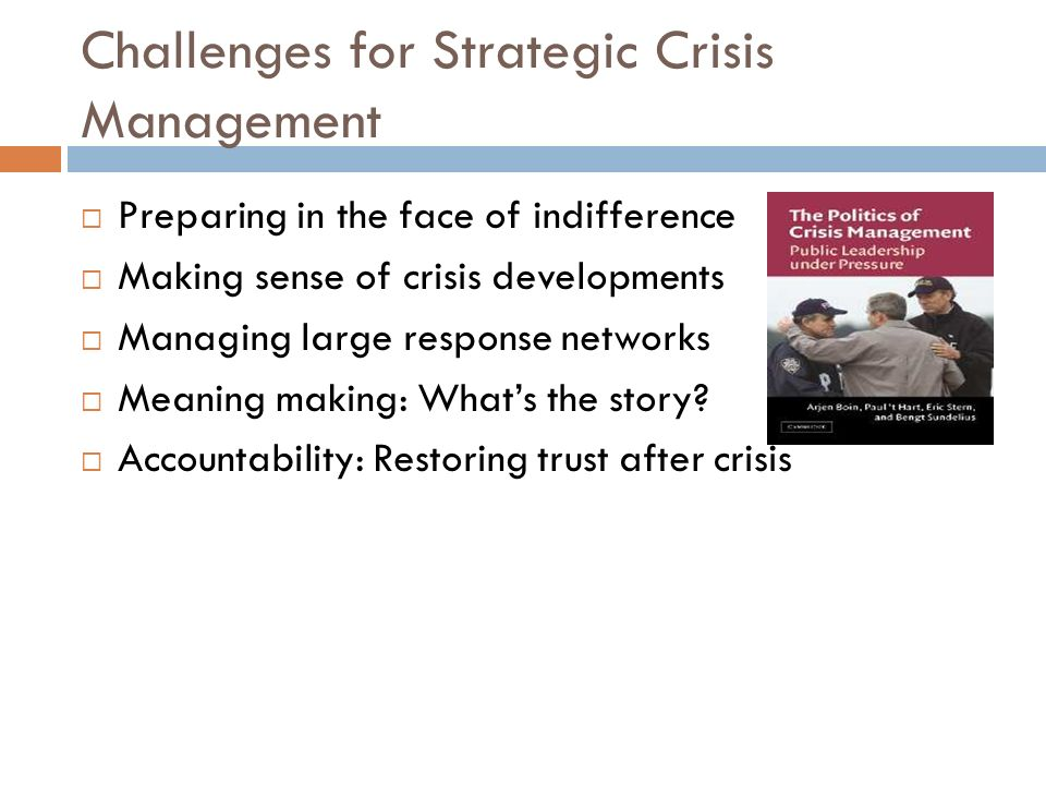 Challenges for Strategic Crisis Management