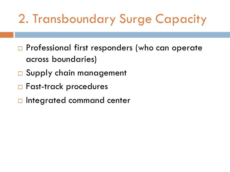 2. Transboundary Surge Capacity