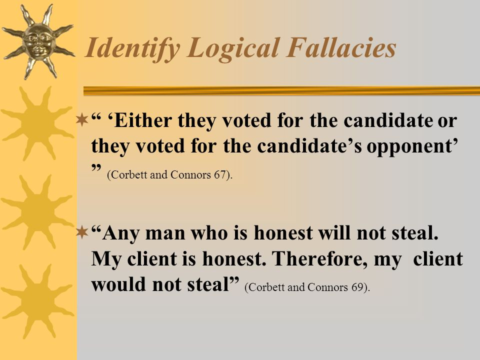 identifing fallices Logical fallacies are flaws in reasoning that can throw your argument off track and confuse your reader this video explains how to identify a few.